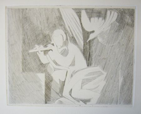Drypoint Beaudin - Bucoliques 3