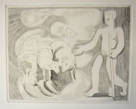 Drypoint Beaudin - Bucoliques 4