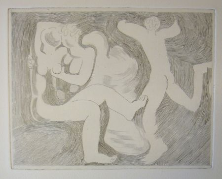 Drypoint Beaudin - Bucoliques 6