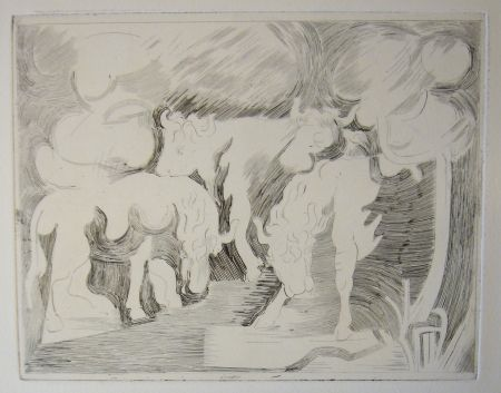 Drypoint Beaudin - Bucoliques 7