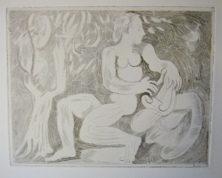 Drypoint Beaudin - Bucoliques 8