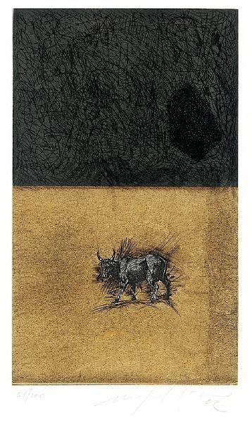 Aquatint Paladino - Bull