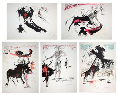 Lithograph Dali - Bullfight Suite (Tauromachie)