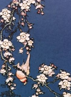 Photography Muniz - Bullfinch and weeping cherry from small flowers