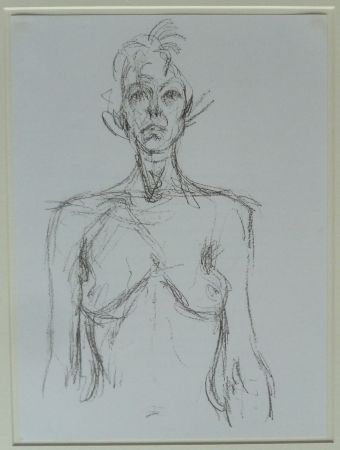 Lithograph Giacometti - Bust of a Nude