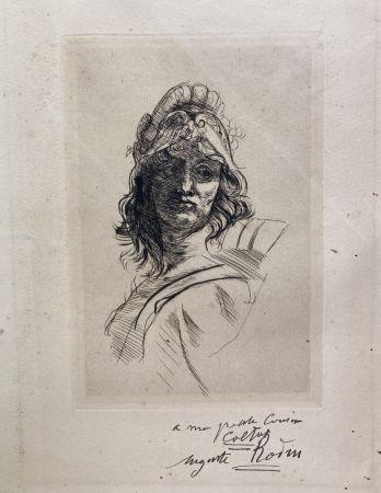 Drypoint Rodin - Buste de Bellona