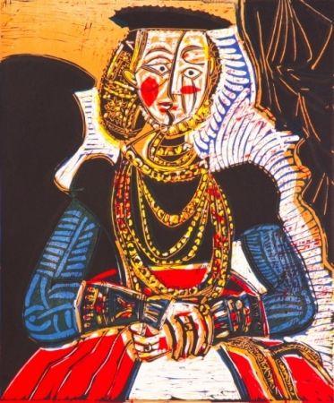 Lithograph Picasso - Buste de Femme