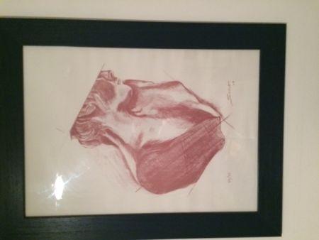 Lithograph Sosno - Buste de femme