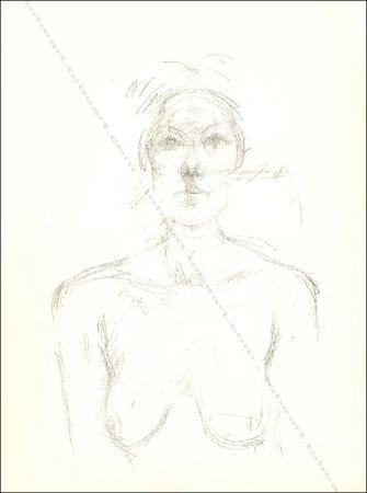 Lithograph Giacometti - Buste Ii.