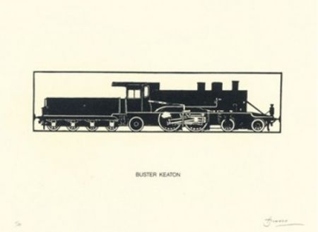 Lithograph Brossa - Buster Keaton