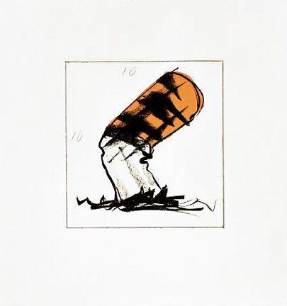 Lithograph Oldenburg - Butt for Gantt