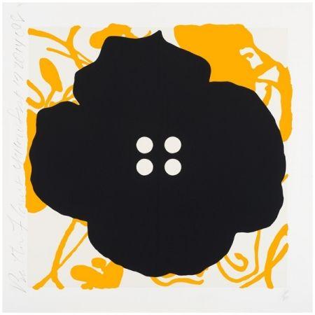 Screenprint Sultan - Button Flower Yellow