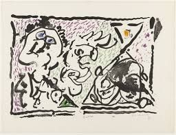 Lithograph Alechinsky - Buvard, 1964