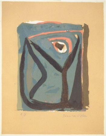 Lithograph Van Velde - BvV 008  sans titre  (1955)
