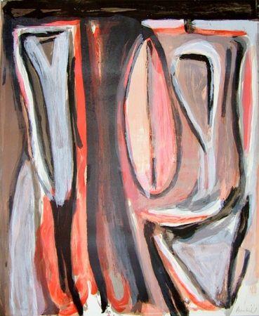 Lithograph Van Velde - BvV 341  sans titre  (1979)
