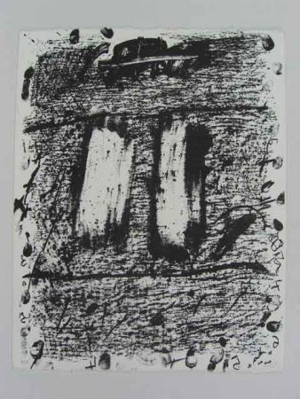 Lithograph Tàpies - CÍRCULO DE PIEDRA