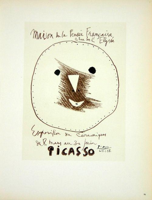 Lithograph Picasso (After) - Céramiques