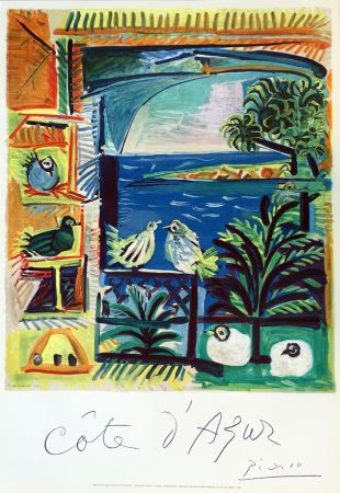 Poster Picasso - Côte d'Azur