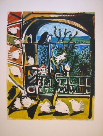 Lithograph Picasso - Côte d'Azur (After)