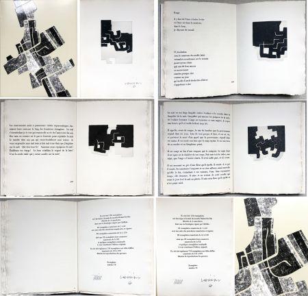 Illustrated Book Chillida -  C. Racine. LE SUJET EST LA CLAIRIÈRE DE SON CORPS. Poèmes. 4 eaux-fortes originales (1974)