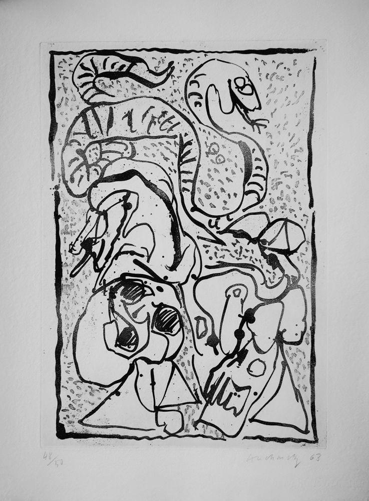 Engraving Alechinsky - Ca serpente