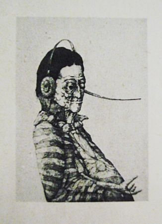 Etching And Aquatint Hernandez - Caballero del eterno retorno