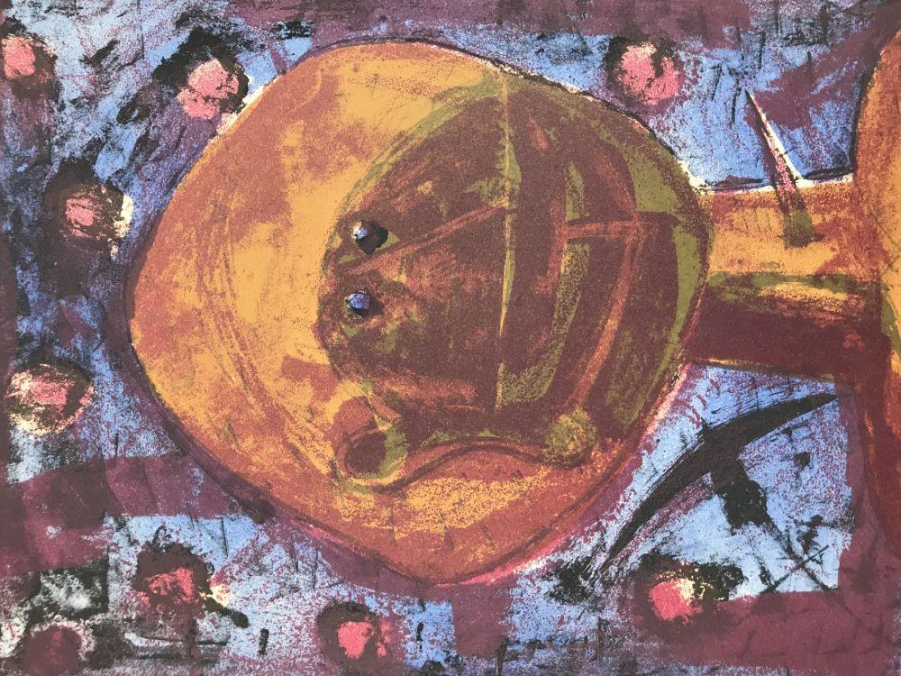 Lithograph Tamayo - Cabeza Con Pajaros