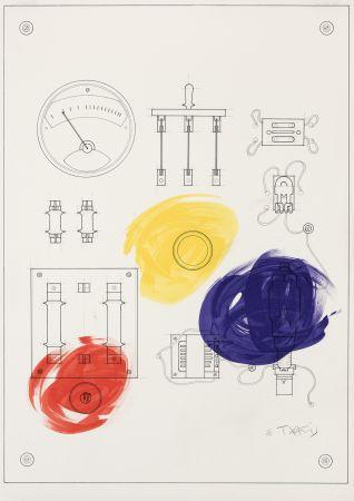 Lithograph Takis - Cadran