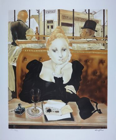 Lithograph Foujita - CAFE