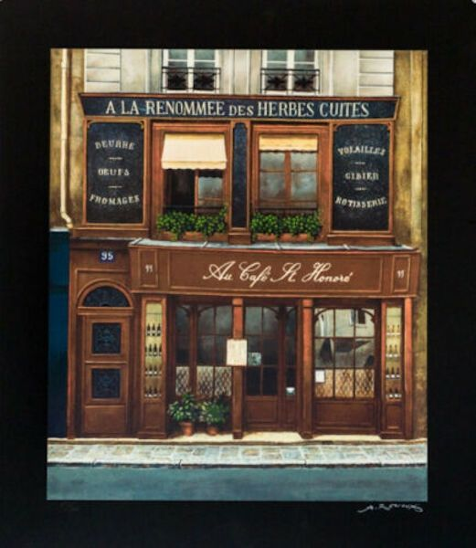 Screenprint Renoux - Cafe St. Honore