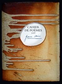 Illustrated Book Miró - Cahier de poemes 1937