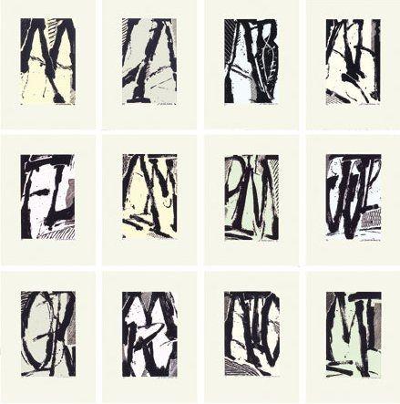 Screenprint Titus Carmel - Cairn - 12 sérigraphies