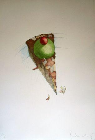 Lithograph Oldenburg - Cake