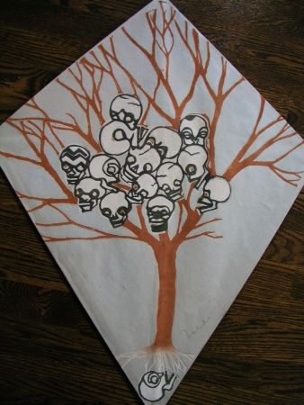 Screenprint Toledo - Calavera tree kite