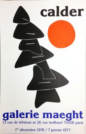 Poster Calder - CALDER 76 : Exposition à la Galerie Maeght Dec. 1976 - Janv. 1977.