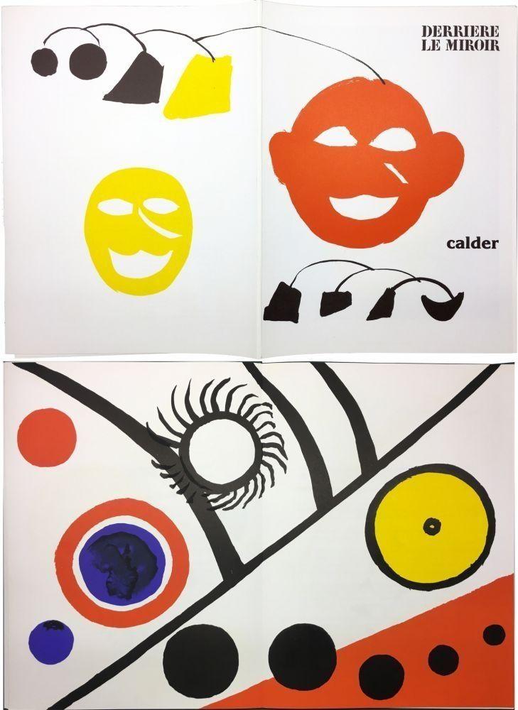 Illustrated Book Calder - CALDER. DERRIÈRE LE MIROIR N° 221. 7 lithographies originales (1976).