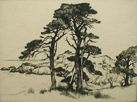 Engraving Kloss - California Coast