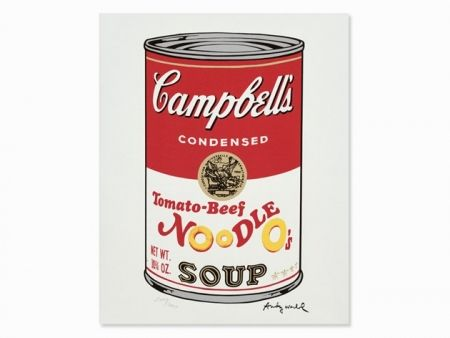 Lithograph Warhol - Campbell