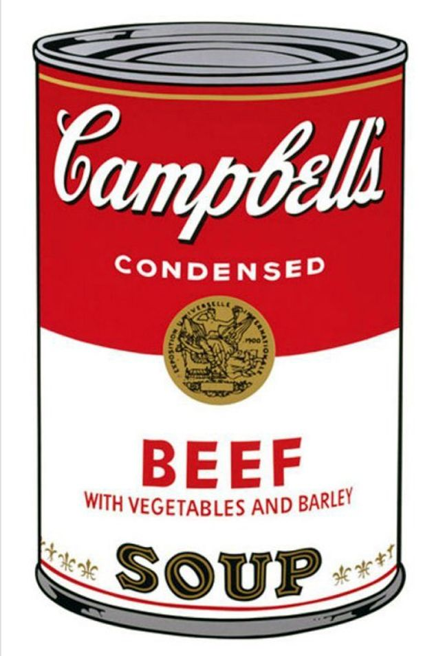 Screenprint Warhol - '' Campbell 's  Soup ''