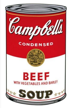 Screenprint Warhol - '' Campbell 's  Soup ''