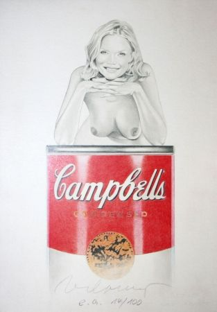 Lithograph Ramos - Campbell soup