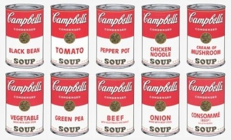 Screenprint Warhol (After) - Campbell soup 10 silkscreens