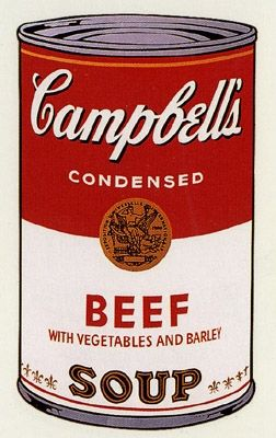 Screenprint Warhol (After) - Campbell's Soup- Beef- Sunday B Morning