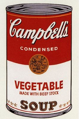 Screenprint Warhol (After) - Campbell's Soup- Vegetable- Sunday B Morning