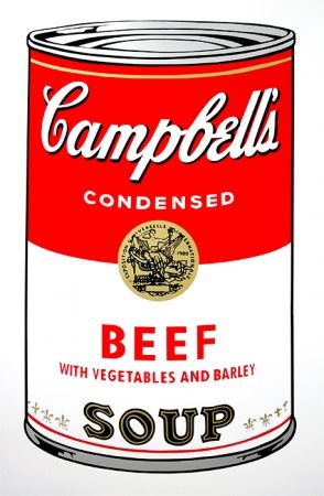 Screenprint Warhol (After) - Campbell's Soup - Beef