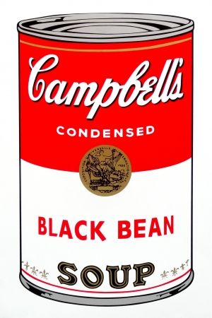 Screenprint Warhol (After) - Campbell's Soup - Black Bean
