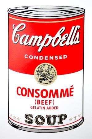 Screenprint Warhol (After) - Campbell's Soup - Consommé