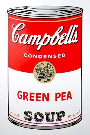 Screenprint Warhol (After) - Campbell's Soup - Green Pea