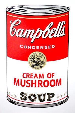 Screenprint Warhol (After) - Campbell's Soup - Mushroom