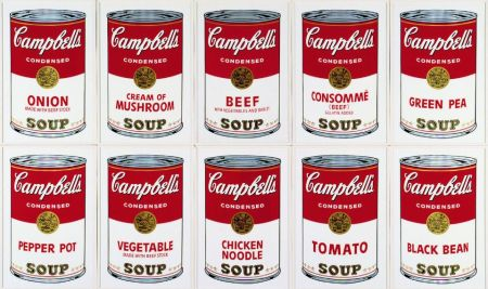 Screenprint Warhol (After) - Campbell´s Soup Can Set of 10